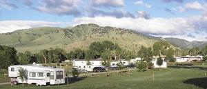 View the beautiful Bighorn Mountains from your campsite.